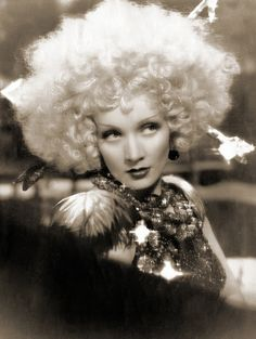 "Marlene Deitrich in ""Blonde Venus"" 1932 Someone needs to be her for Theatre Bizarre!"