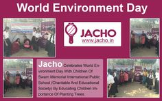 #Jacho celebrates #WorldEnvironmentDay with #SwarnInternationalPublicSchool a Charitable School. #GoGreen #GreenBeauty #BeautyServices