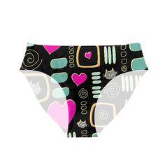 Love Cats Fun Pattern Women's Briefs, Cool Patterns, Cool Cats, Fun, Pants, Trouser Pants, Women's Pants, Women Pants, Trousers