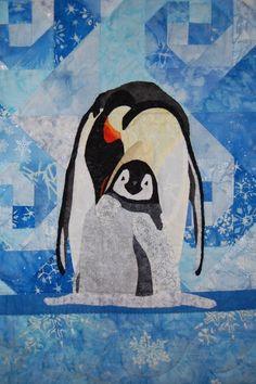 Penguin Wall Quilt Pattern My Little Darling by donnaburkholder, $9.00