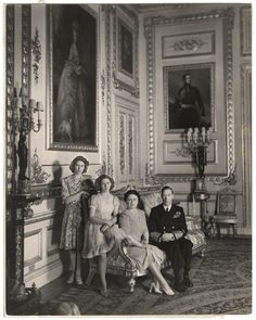 Queen Elizabeth II; Princess Margaret; King George VI; Queen Elizabeth, the Queen Mother by Cecil Beaton bromide print, 1943