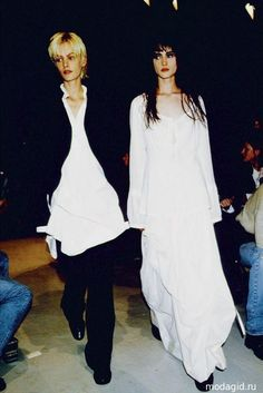 Ann Demeulemeester 1994, Emma Boulfour & Michele Hicks