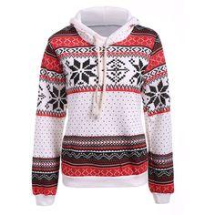 Polka Dot Christmas Snowflake Pullover Hoodie ($13) ❤ liked on Polyvore featuring tops, hoodies, hooded sweatshirt, sweater pullover, hooded pullover, pullover hoodies and polka dot top