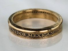 Mexican 10 Peso Coin ring by CraftsByJoel on Etsy