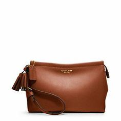 I need this. To match my big one! Coach - Legacy Leather Large Wristlet in cognac.