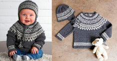 Sticka en klassisk tröja och mössa med ok – ett mjukt paket till babyn | Land.se Knitting For Kids, Baby Knitting Patterns, Baby Barn, Diy And Crafts, Crochet Hats, Pullover, Children, Sweaters, Fashion