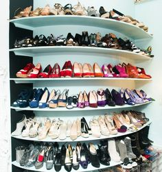 turquoise closet shelves for shoes