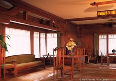 Gamble House 1907-1908; Pasadena, California. Greene & Greene. Arts and Crafts style.