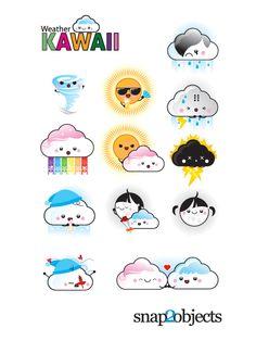Free 12 vector Weather Kawaii
