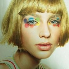 Mary Quant in SPUR fashion magazine / BOOK in BOOK This is not something I would do everyday, but it would be fun for a costume. Makeup Inspo, Makeup Art, Makeup Inspiration, Beauty Makeup, Eye Makeup, Hair Makeup, Hair Beauty, Makeup Ideas, Style Inspiration