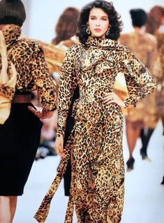 80s Fashion, Fashion History, Vintage Fashion, Fashion Trends, Dior Fashion, Christian Dior, Yves Saint Laurent, Vogue Paris, Animal Print Fashion