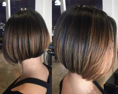 #paintedhair #bob #balayage #hairpainting #warmbrown #shorthair #highlights #ivabellasalon #hairbyChristineRiddle