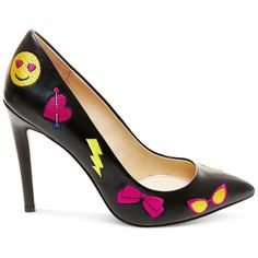 Betsey Johnson Papii Emoji Pumps - Pumps - Shoes - Macy's ❤ liked on Polyvore featuring shoes, pumps, betsey johnson, betsey johnson footwear, betsey johnson shoes and betsey johnson pumps
