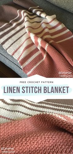 How to Crochet Linen Stitch Baby Blanket Crochet blankets do not only keep babies cozy and warm but also soothe their senses and calm them down. Snuggling under soft covers is definitely Crochet Afghans, Crochet Ripple, Baby Blanket Crochet, Knit Crochet, Booties Crochet, Free Crochet Blanket Patterns Easy, Knitting Blanket Patterns, Linen Stitch Crochet, Modern Crochet Blanket