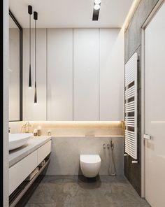 Graceful tall narrow bathroom storage cabinet to inspire you Minimalist Bathroom Design, Modern Bathroom Design, Bathroom Interior Design, Bath Design, Bathroom Designs, Contemporary Bathrooms, Modern Faucets, Modern Design, Minimal Bathroom