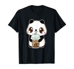 Bride And Groom Cartoon, Bear Drink, Bubble Pearl, Diy Canvas Art, Milk Tea, Kawaii Cute, Panda Bear, Creative Gifts, Funny Shirts