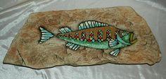 Hagen Renaker Pottery Mid Century Fish Wall Plaque
