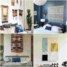 Textiles on the wall - A simple remedy to give your home a bohemian look