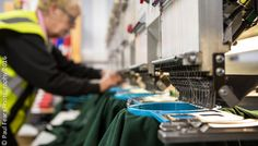 #Embroidery machines for #brandedclothing in the new PK Safety workshop