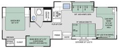 2018 Four Winds 30D Floor Plan