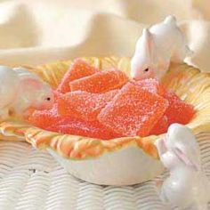 Orange Jelly Candies.  Substitute Canna-butter  add kief to make the #MMJ way!