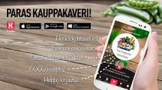 Lataa uusi K-ruoka-mobiilisovellus! http://www.k-ruoka.fi/mobiilisovellus/