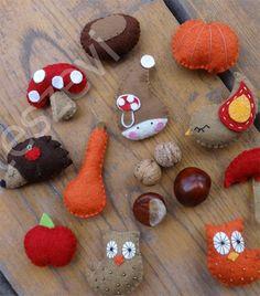 Őszi dekorációs csomag, az ősz szimbólumaival Posca Art, Felt Animals, Fall Crafts, Classroom Decor, Gingerbread Cookies, Cute, Gifts, Sewing, Hobbies