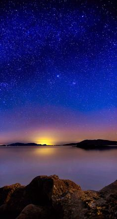 Beautiful evening starry sky. Tap image to check out more Starry Sky iPhone wallpapers. - @mobile9 #night #stars #scenery #nature