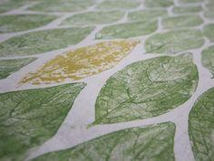 Gorgeous Leaf Hand-Printed Calico Fabric - Half Meter