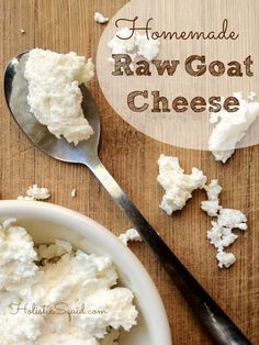 How to Make Goat Cheese in the Raw Almond Saffron Milk (Badam Milk) Great freezer cooking tips Homemade Goat's Milk Ricotta Cheese / Honest . Goat Milk Recipes, Goat Cheese Recipes, Raw Food Recipes, Cooking Recipes, Dairy Recipes, Freezer Cooking, Cooking Tips, Fromage Vegan, Fromage Cheese