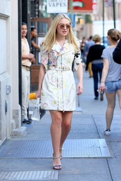 From Amal Clooney to Dakota Fanning, the Best Dressed Celebs of the Week via Celebrity Outfits, Celebrity Look, Dakota Fanning Style, Girls Luncheon, On Repeat, Red Carpet Looks, Celebs, Celebrities, Everyday Outfits