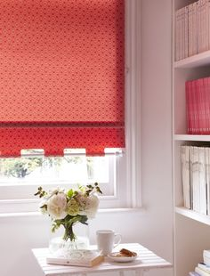 Geometric patterns in bright colours add a great splash of colour into a simply decorated room. Made to measure Starburst Chilli Roller blind is perfect for this. Blinds For Windows, Curtains With Blinds, Made To Measure Blinds, Bright Colours, Roman Blinds, Roller Blinds, Geometric Patterns, Curtain Fabric, Home Improvement Projects