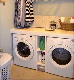 Laundry Closet, Washing Machine, Elegant, New Homes, Home Appliances, Up, Home Decor, Basement Laundry Area, Classy