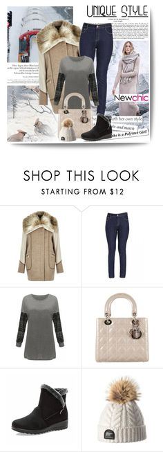 """""""NEWCHIC-1"""" by dzena-05 ❤ liked on Polyvore featuring MANGO, River Island and Christian Dior"""