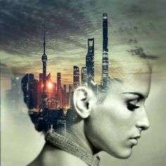 Free Image on Pixabay - Cd Cover, Head, City, Skyscraper Double Exposure Photography, Art Photography, Fotos Strand, Legal Psychedelics, Fuchs Illustration, Double Exposition, Multiple Exposure, Music Images, Lucid Dreaming