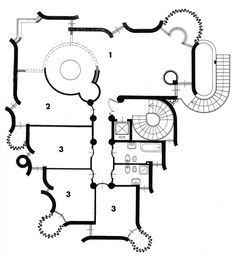 Casa Papanice (Papanice House) Rome, Italy. 1966-1970 Architect: Paolo Portoghesi  #floorplan