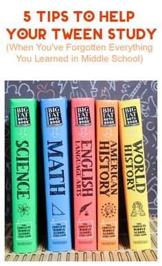 Check out 5 tips for helping your tween study when you've pretty much forgotten everything you learned in middle school.