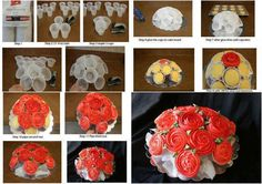 Valentine Day-food ideas-Rose cupcake bouquet