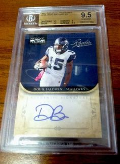 2011 National Treasures Doug Baldwin Auto RC BGS 9.5 Seahawks Football