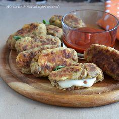 Crocchette patate e carne trita al forno