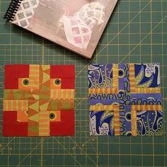 Blocks 1 & 2 from @tulapink #citysampler using my @janesassaman fabric. I'm…