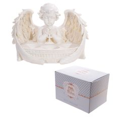 Decorative Cherub Praying Triple Tealight Holder