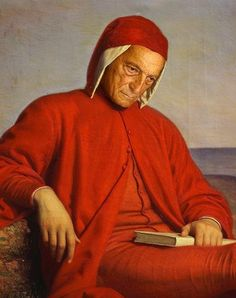 Dante Alighieri in exile, oil painting by Domenico Petarlini. Dante Alighieri, Potrait Painting, Medieval, Italian Paintings, Gustave Dore, Late Middle Ages, Writers And Poets, Caravaggio, Renaissance Art