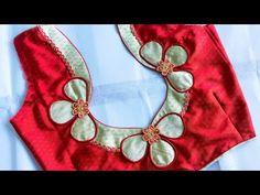 Latest Blouse Neck Designs, Churidhar Neck Designs, Simple Blouse Designs, Neckline Designs, Bridal Blouse Designs, Sleeve Designs, Hand Work Blouse Design, Mirror Work, Photo Heart