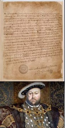 "Henry VIII to Anne Boleyn: ""The demonstrations of your affection are such, and the beautiful words of your letter are so cordially phrased, that they really oblige me to honour, love, and serve you for ever.... ""For my part, I will out-do you, if this be possible, rather than reciprocate, in loyalty of heart and my desire to please you. ""Beseeching you also that if I have in any way offended you, you will give me the same absolution for which you ask""..."