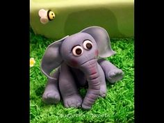 ▶ Cake decorating - How to make an elephant cake topper - YouTube