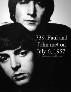 The pair chatted for a few minutes, and McCartney showed Lennon how to tune a… Beatles Love, Beatles Art, Beatles Photos, Beatles Bible, Beatles Funny, Liverpool, Lennon And Mccartney, The Fab Four, John Lennon