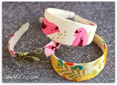 This could work for a number of covering possibilities. How to make a no sew headband - Sew McCool