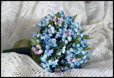 Свадебные букеты: Свадебный букет из цветов незабудок