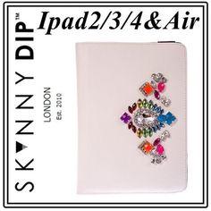流行ビジュー!  かわいい ipad2 3 air ケース skinnydip   即納